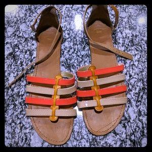 Gap sandals size 10 tan buckle orange
